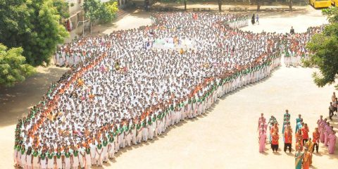 BIGGEST HUMAN MAP OF INDIA
