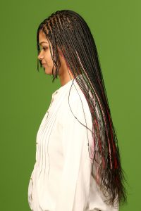 BOX BRAIDS MADE WITH LONG HAIRS