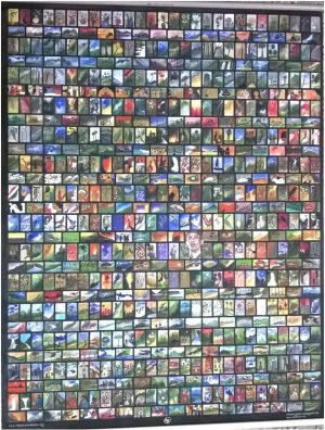 MOST MINIATURE PAINTINGS ON A SINGLE CANVAS SHEET