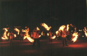 MOST PEOPLE PERFORMED FIRE DANCE TOGETHER