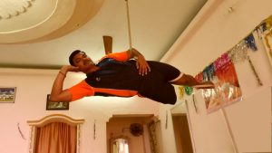 MOST YOGA POSTURES ON A ROPE BY A DIFFERENTLY ABLED