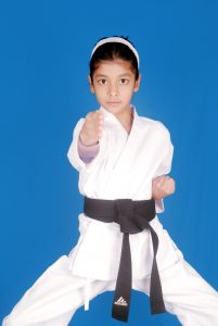 YOUNGEST TO BECOME SECOND DEGREE KARATE BLACK BELT