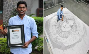 LARGEST DOT PAINTING ON SAVE GIRL CHILD