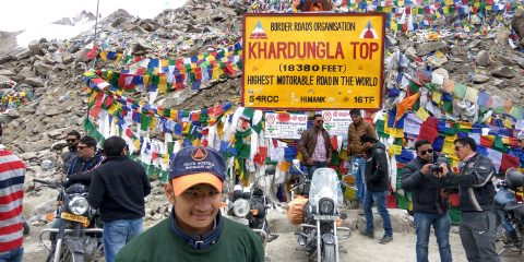 BLINDFOLDED KHARDUNG LA EXPEDITION